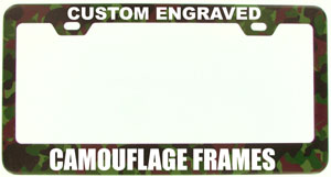 heavy metal camouflage license plate frames are here
