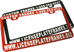 license plate frames one custom engraved frame
